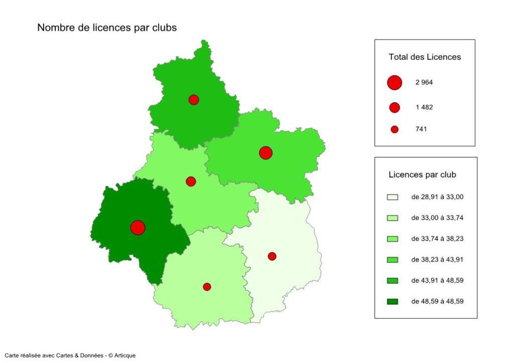 Licences par clubs